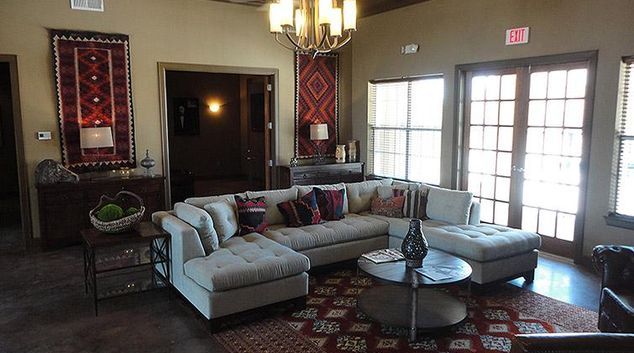 Living room at Avalon Apartments