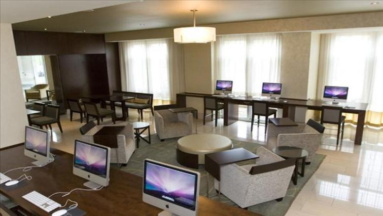 Work space at Wisconsin Place Apartments