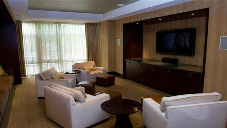 Comfortable lounge area at Wisconsin Place Apartments