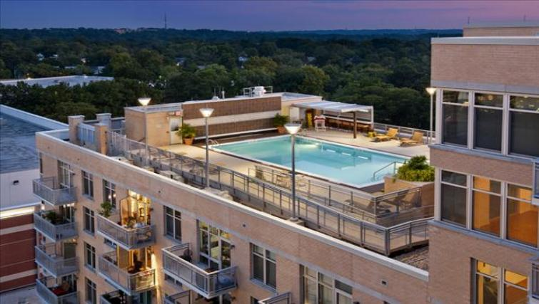 Stunning pool at Wisconsin Place Apartments