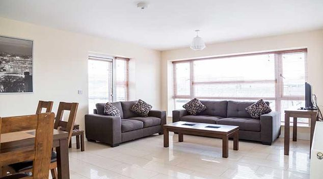 Sofas at Pearse Street Suites