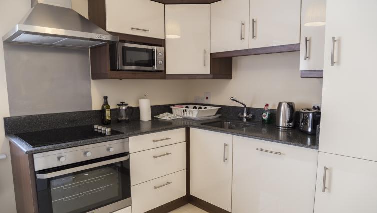 Kitchen at Five Lamps Suites
