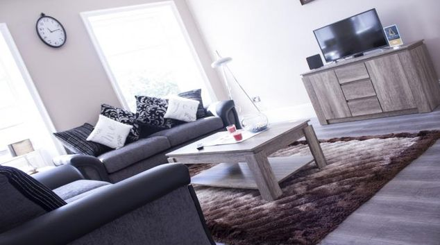 Stylish living area at Lux Apartments Wakefield Central