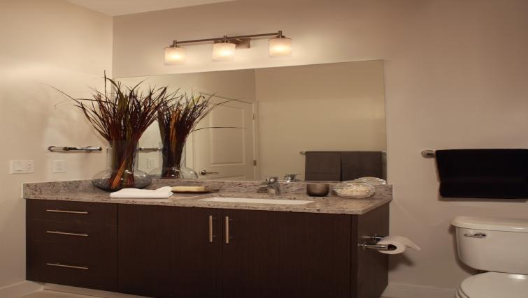 Pristine bathroom at 1919 Clarendon Apartments