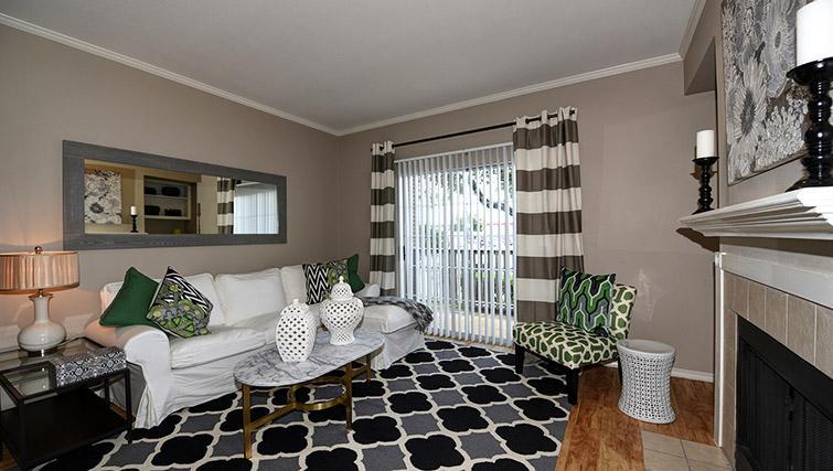 Living room at Walkers Ranch Apartments