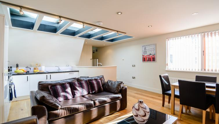 Bight living area at Flying Butler Holborn Apartments