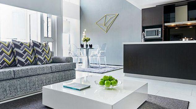 Living room at Citadines Fusionopolis Apartments, Singapore