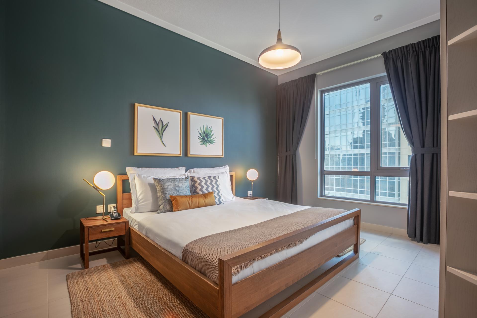 Bed at South Ridge Apartment, Financial District, Dubai