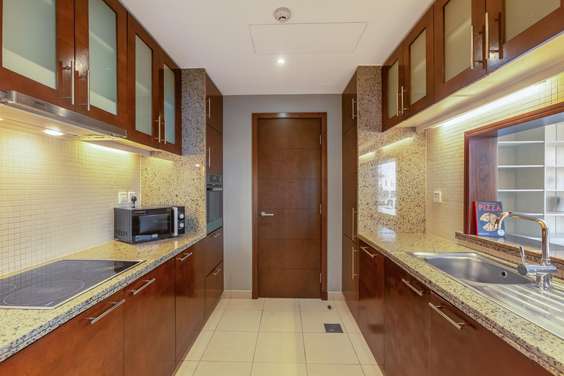 Kitchen at South Ridge Apartment, Financial District, Dubai