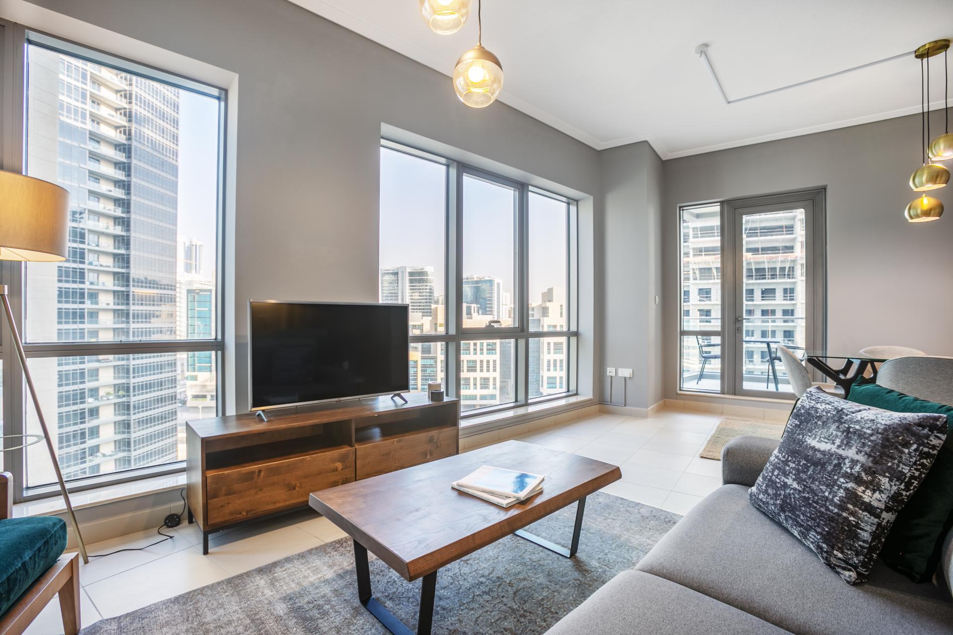 TV at South Ridge Apartment, Financial District, Dubai