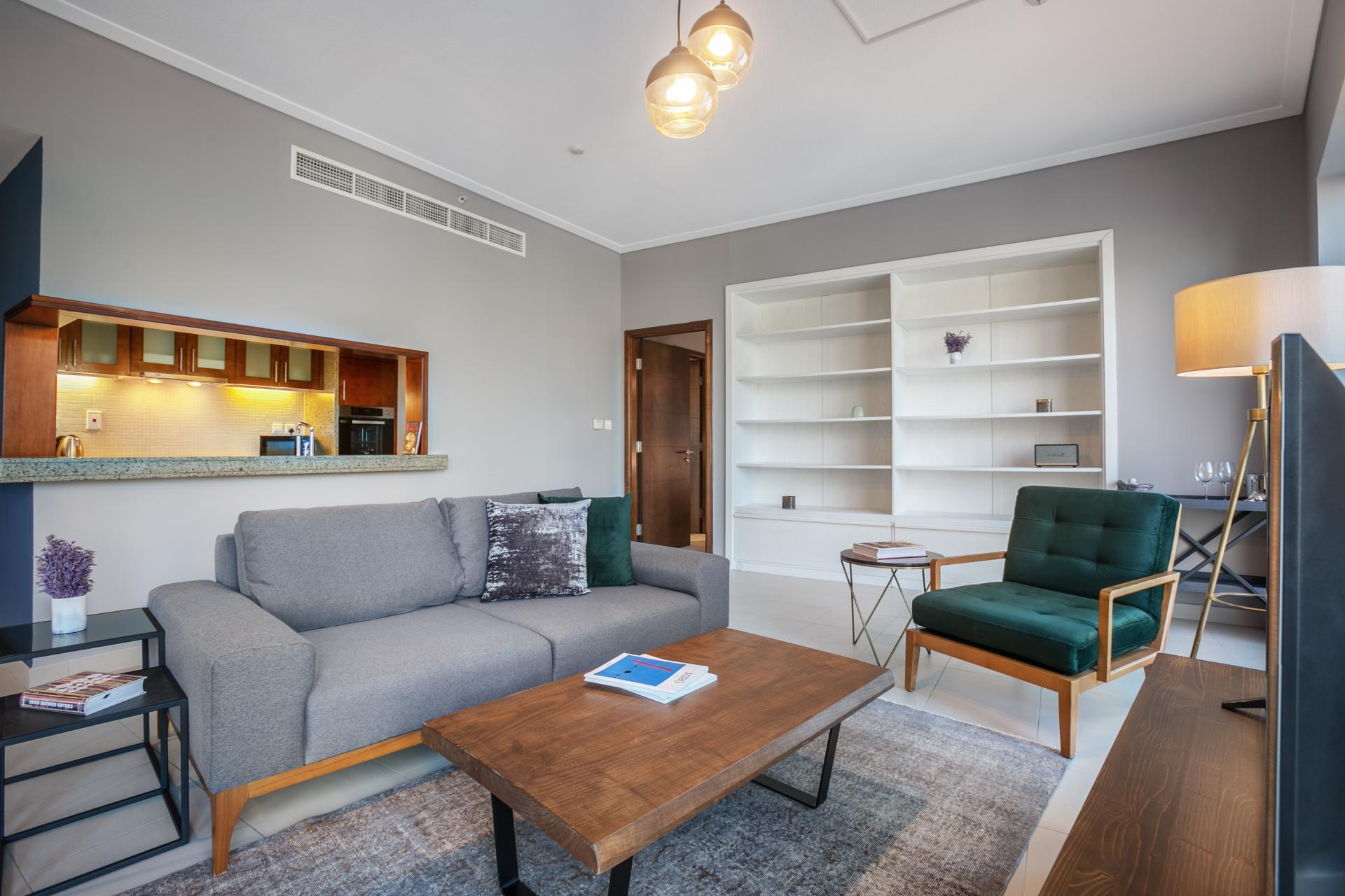 Sofas at South Ridge Apartment, Financial District, Dubai