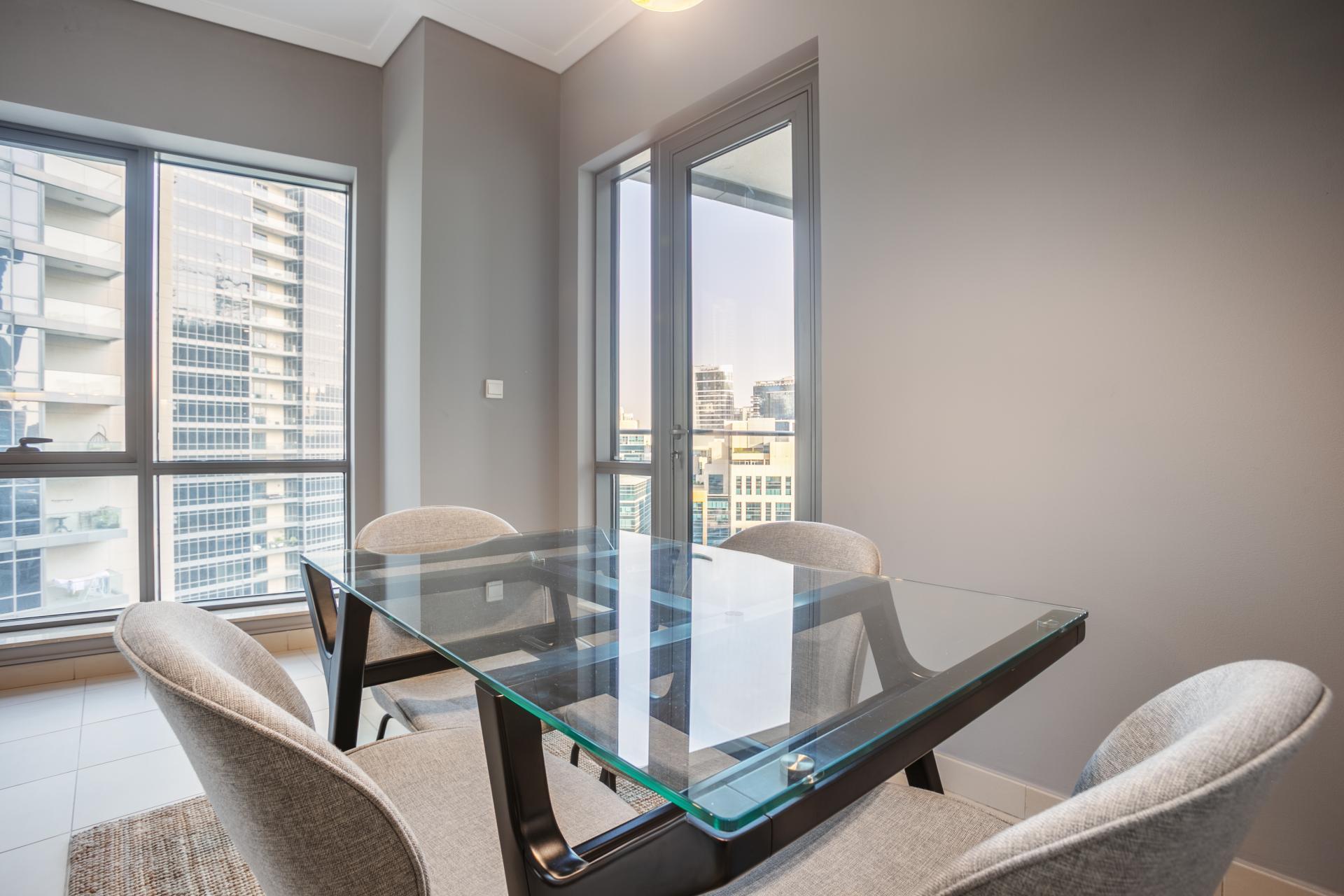 Dining area at South Ridge Apartment, Financial District, Dubai