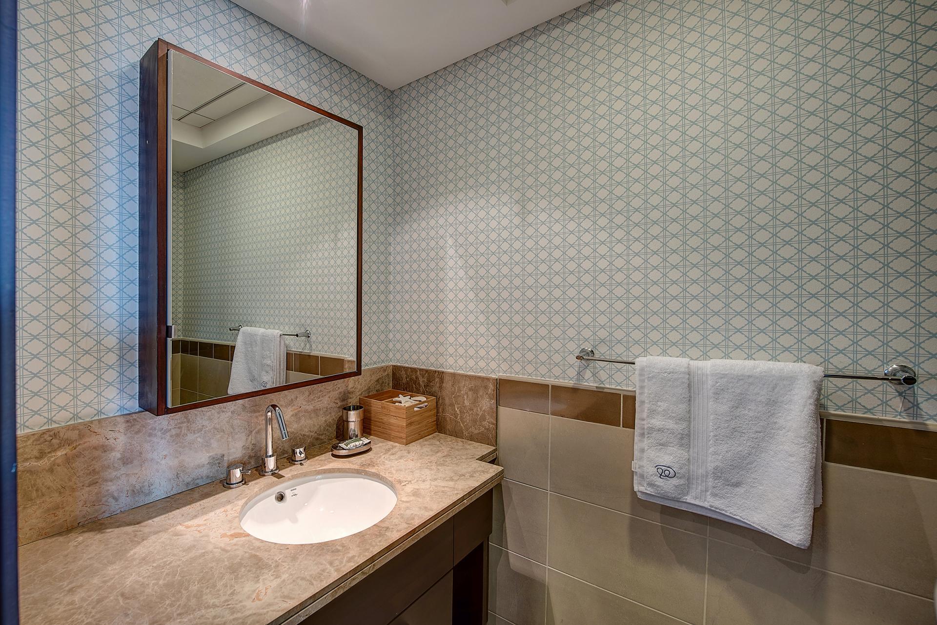 Bathroom vanity at DIFC Index Tower Apartment