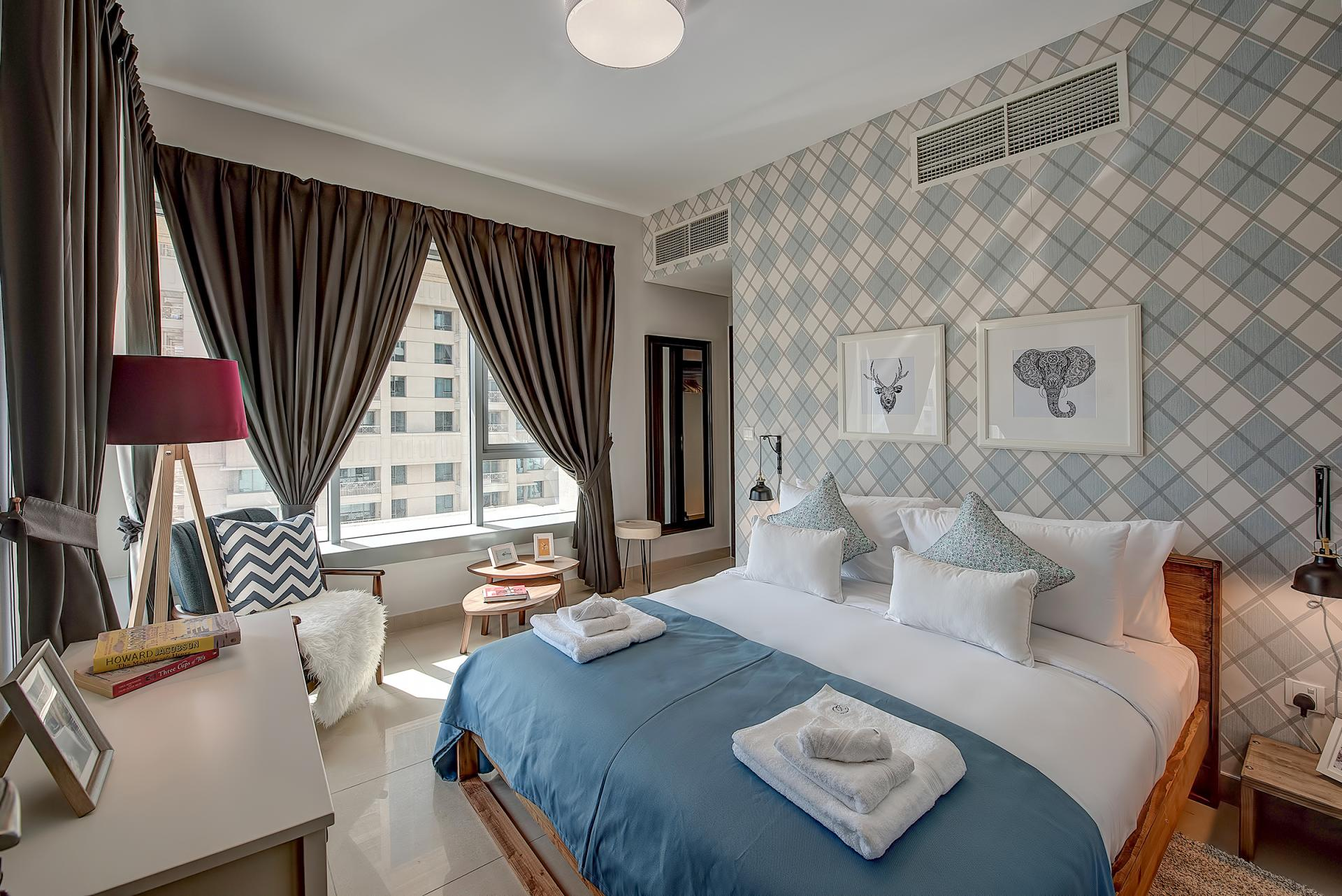 Bedroom at DIFC Index Tower Apartment