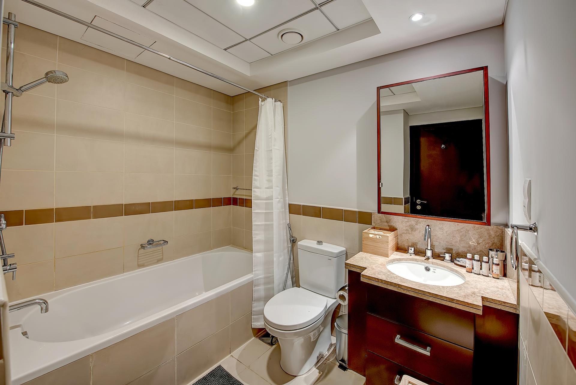 Bathroom at DIFC Index Tower Apartment