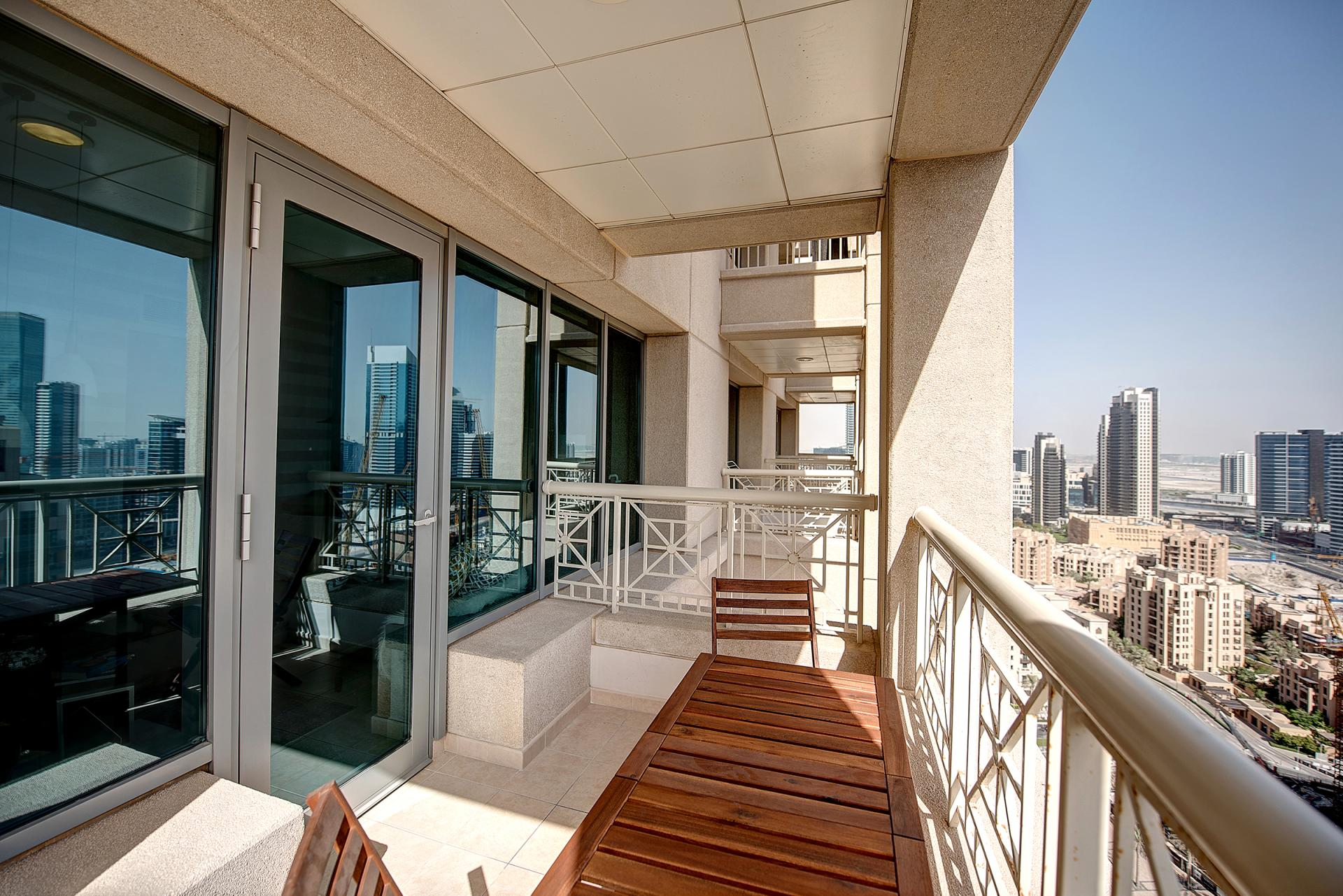 Balcony at DIFC Index Tower Apartment