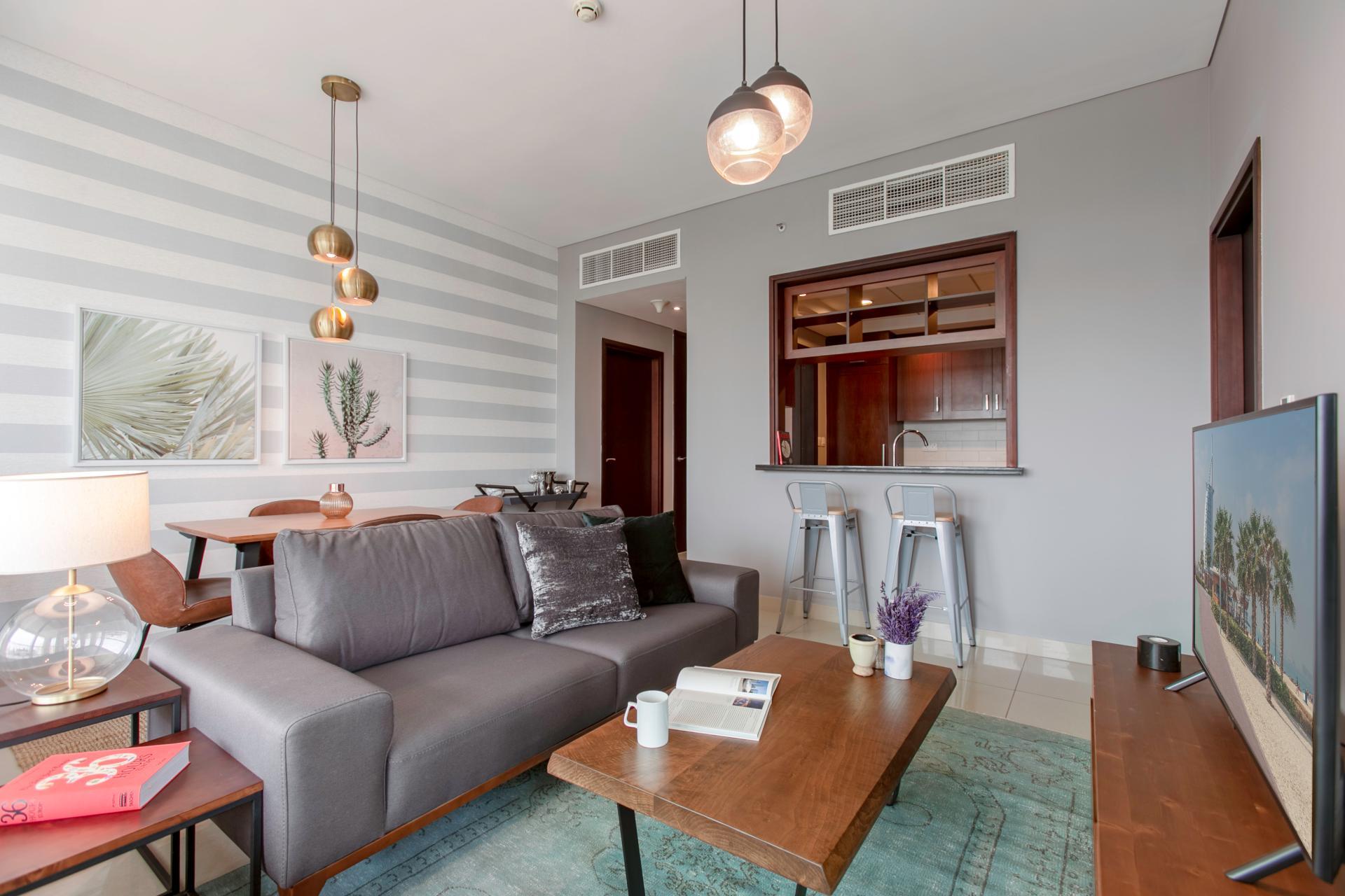 Sofa at DIFC Index Tower Apartment