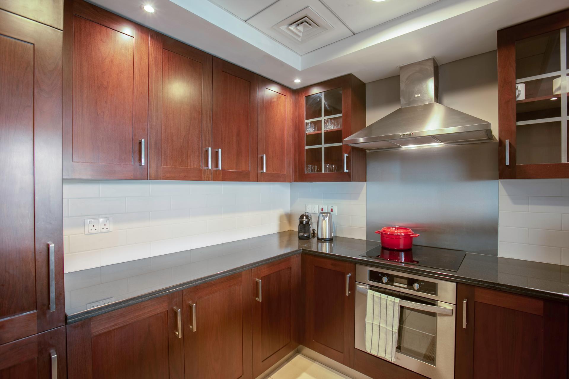 Modern kitchen at DIFC Index Tower Apartment