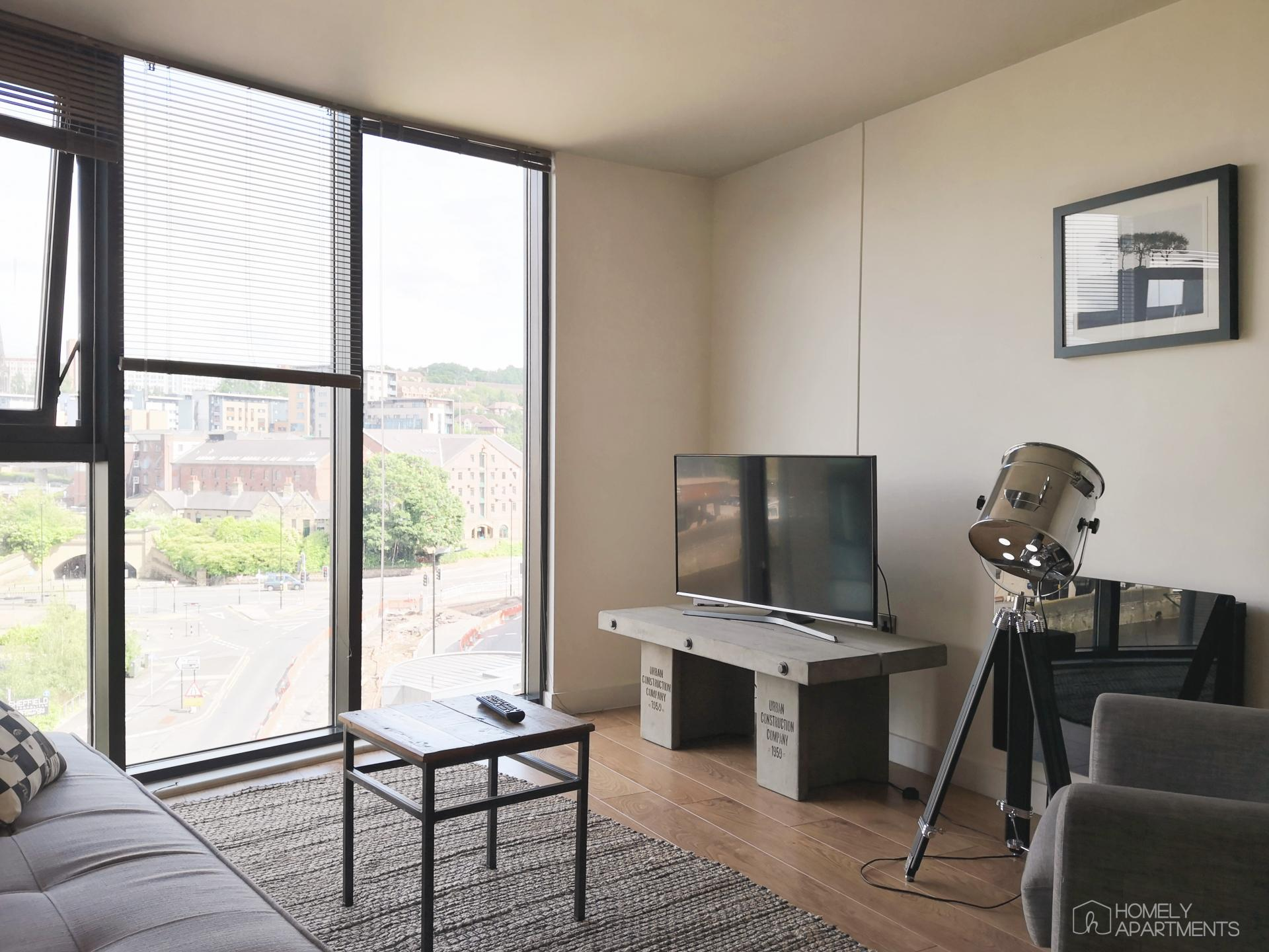 Living space at Blonk Street Apartments