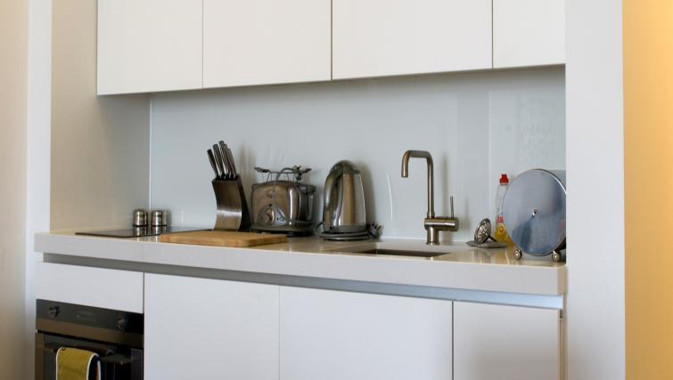 Kitchen at Drakes Wharf Apartments