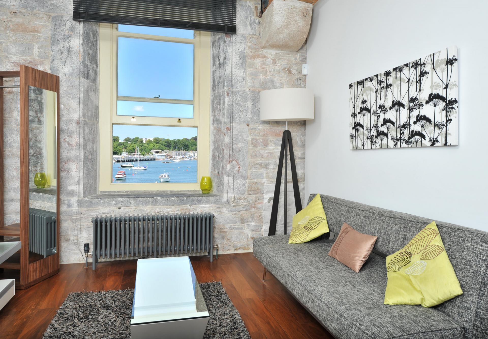 Sofa at Drakes Wharf Apartments