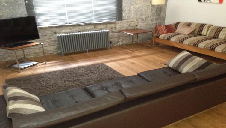 Living room at Drakes Wharf Apartments