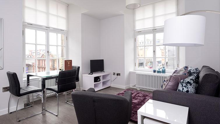 Living room at Glassford Residence