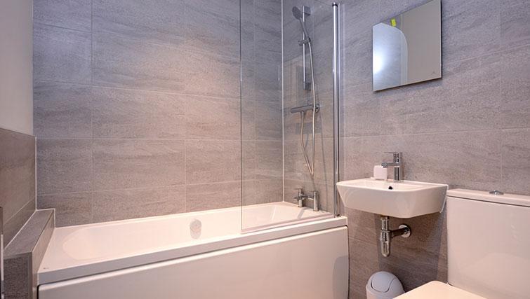Main bathroom at Glassford Residence