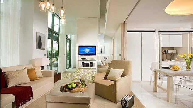 Living area at La Residenza Waterfront Apartments, Singapore