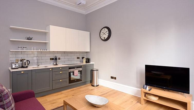 Open plan kitchen at Distillers House
