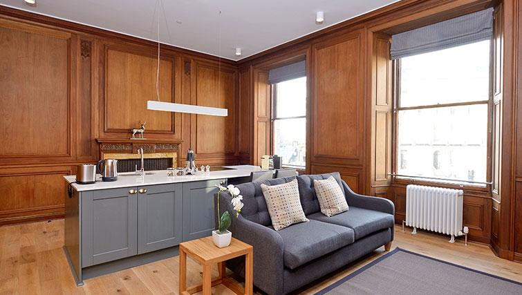 Cosy living area at Distillers House