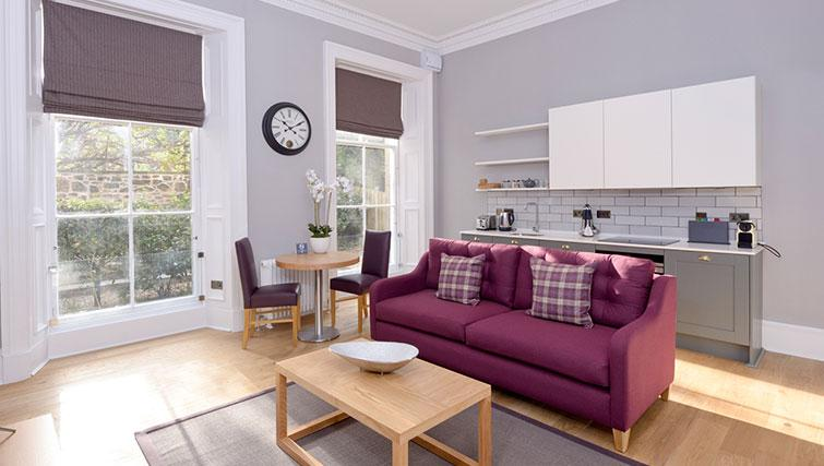 Bright living area at Distillers House