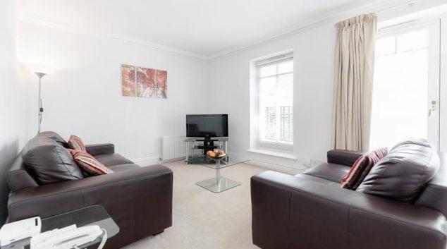 Living area at Richmond Bridge Development Apartments