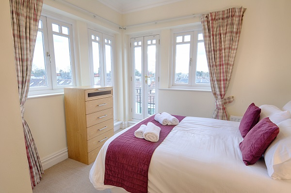 Bright bedroom at Richmond Bridge Development Apartments