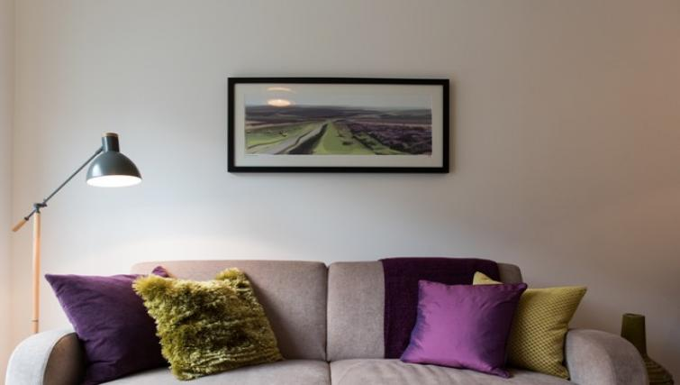 Cosy living area at Flamsteed Close Apartments
