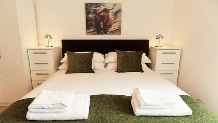 Bright bedroom at Flamsteed Close Apartments