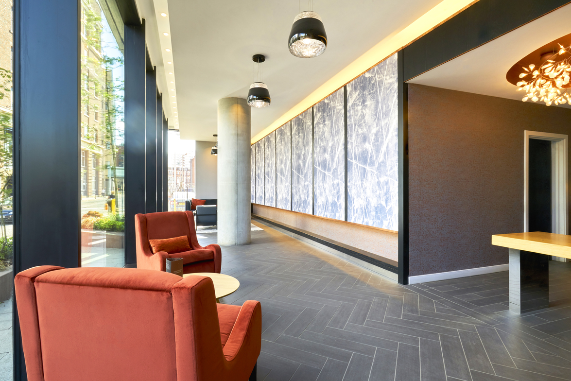 Lobby at CitySuites Manchester