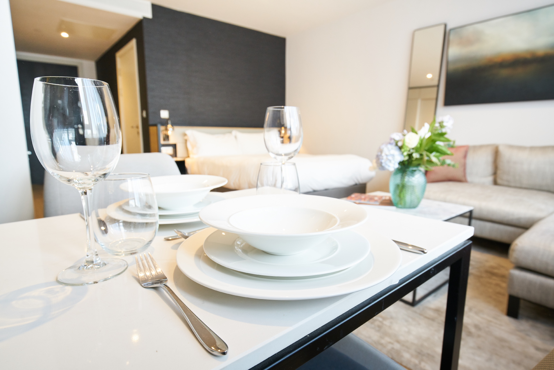 Dining table at CitySuites Manchester