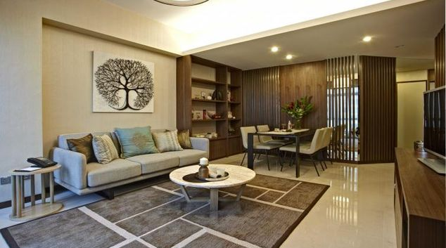 Living area at Great World Serviced Apartments, Singapore