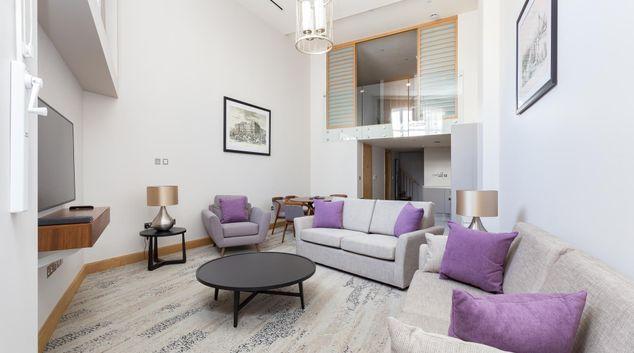 Living room at Sanctum Belsize Apartments