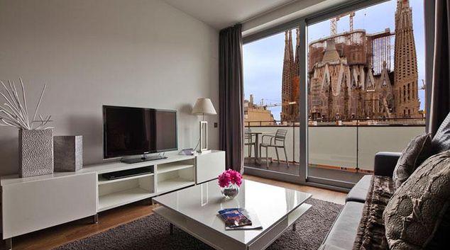 Living area at Sensation Sagrada Familia