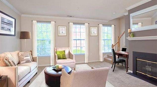Living area at Florham Park Apartment