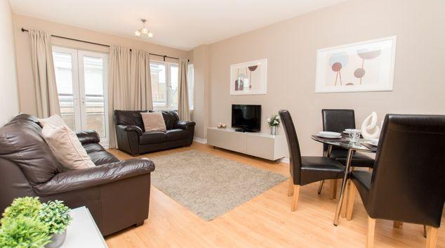 Living room at Robinson House Apartments, High Street, Crawley