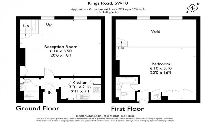 Floor plan at Mathison House Chelsea