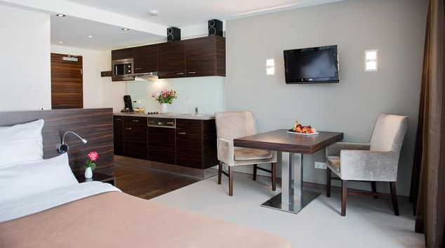 Living-Dining area at Bielefeld Serviced Apartments