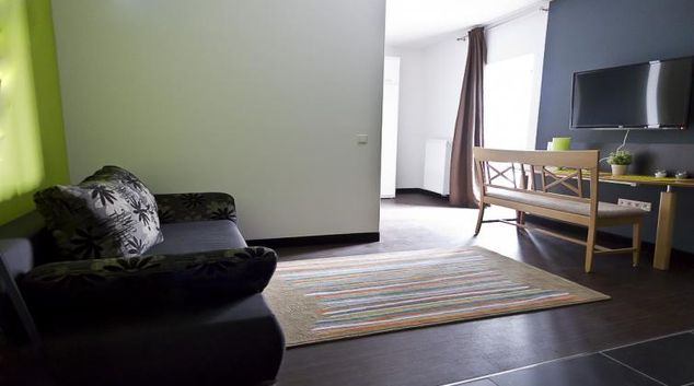 Living area at Aappartel Serviced Apartments