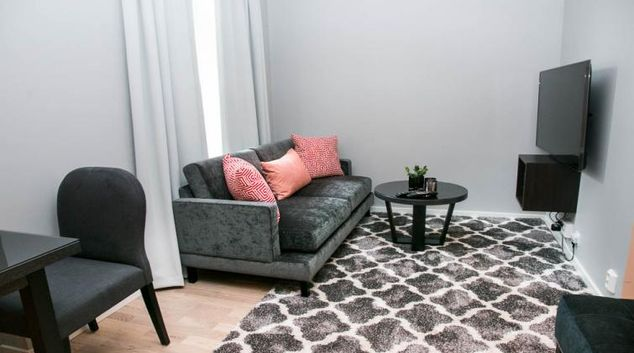 Cosy living area at Odinsgate 10 Apartment