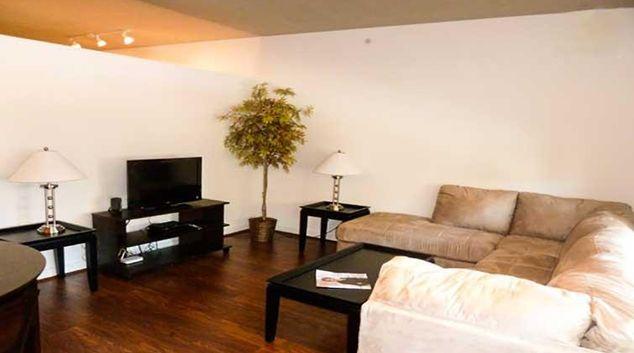Living area at U St Corridor Apartments
