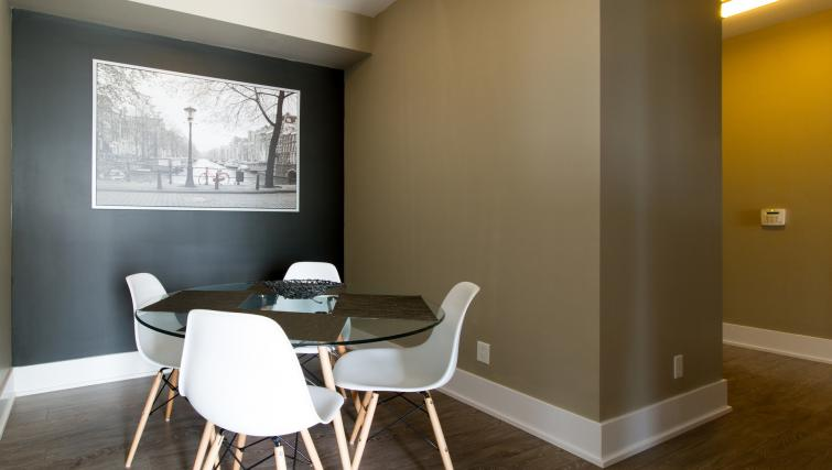 Dining area at Front Street West Apartments