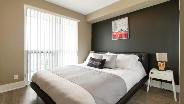 Bedroom at Front Street West Apartments